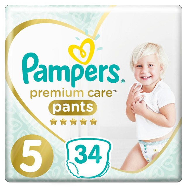 Трусики Pampers Premium Care 12-17 кг, размер 5, 34 шт.