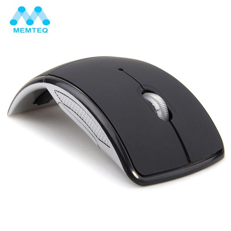 MEMTEQ Mouse Wireless 2.4 Ghz Mouse Del Computer Pieghevole Pieghevole Mouse Ottico Ricevitore USB per PC Laptop Computer Desktop