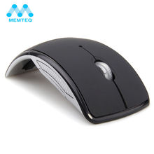 MEMTEQ Wireless Mouse 2.4 Ghz Computer Mouse Foldable Folding Optical Mice USB Receiver for Laptop PC Computer Desktop