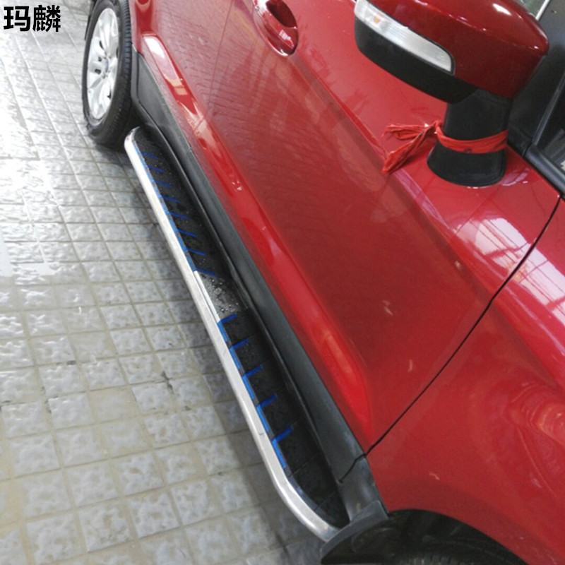 High Quality For Ford EcoSport 2012 2014 2015 Running Board Side Steps Aluminium Stainless Steel ABS
