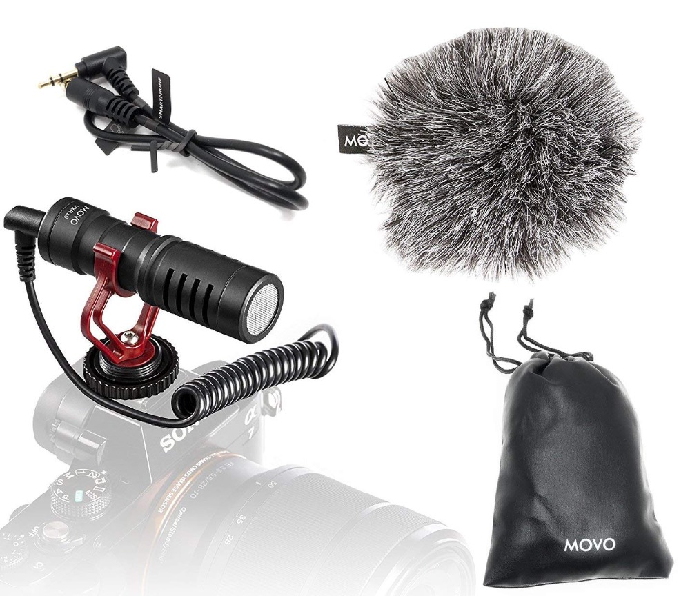 Movo Video-Microphone Shock-Mount Camcorders Dslr-Cameras VXR10 Canon With Windscreen