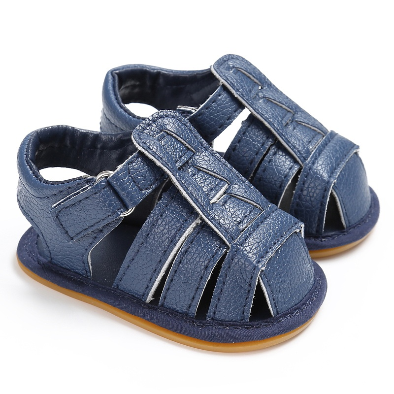 Summer Sandals Leisure Girls Boys Sandals For Children PU First Walkers Black Shoes New 2018 New