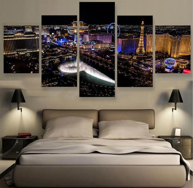 5 Stuks Moderne muur canvas gedrukt schilderij Muur Foto Voor ...