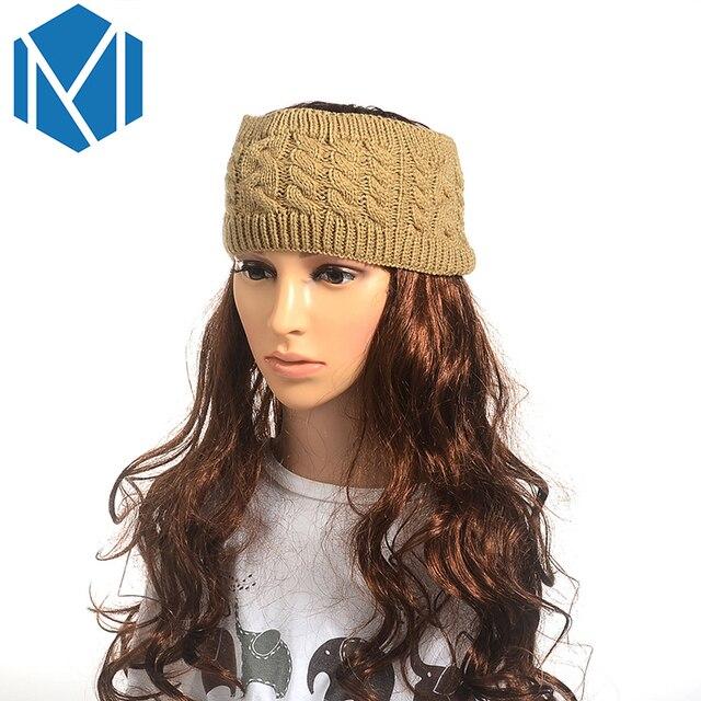 M Mism 2018 Mode 1 Stück Solide Twist Stirnband Winter Warm Häkeln