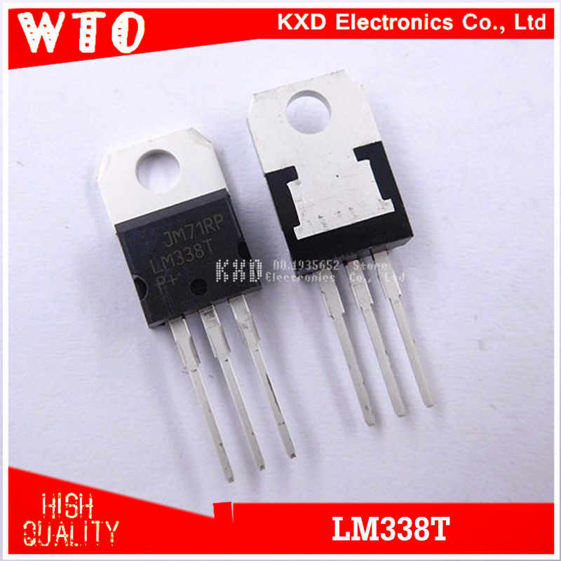 free shipping 10pcs lm338t lm338 voltage regulator 5a 1 2v to 32v output is short circuit protected to 220 lm317 voltage regulator lm338 5 amp adjustable regulator