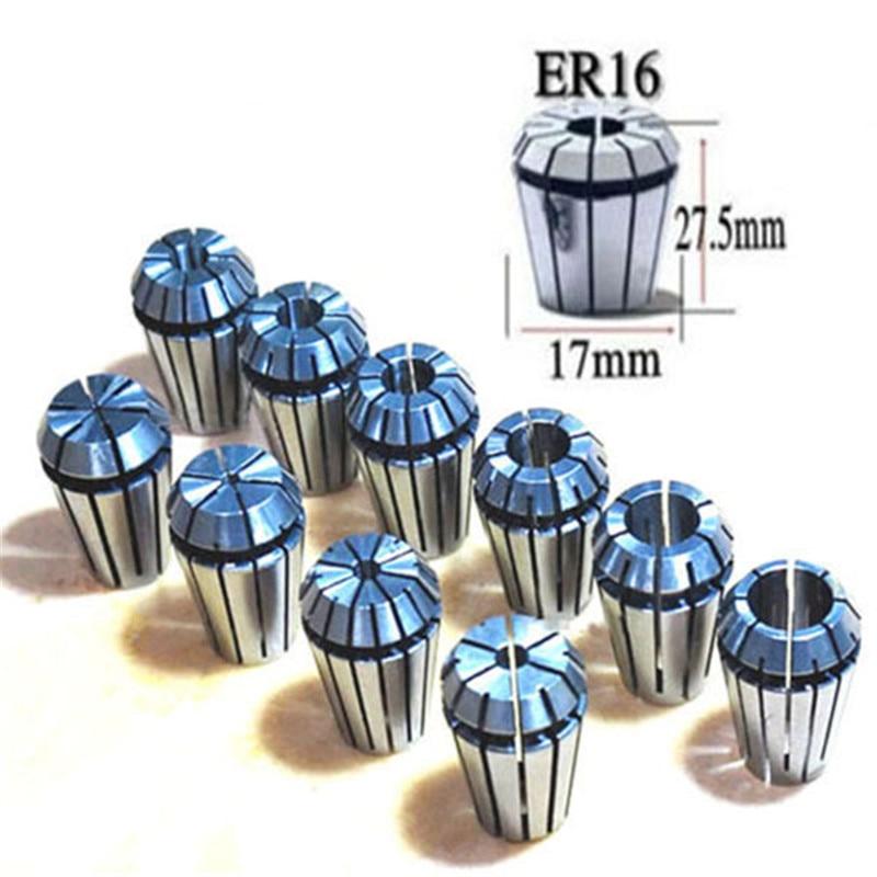 Good ER16 10Pcs Spring Collet Set CNC Milling Lathe Tool Engraving Machine