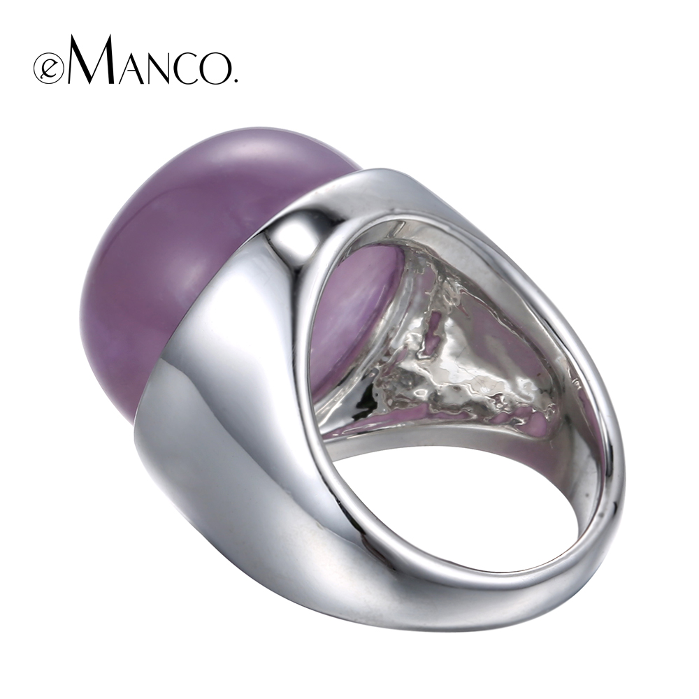 Purple stone ring beautiful stone rings for women 2016 concise ...