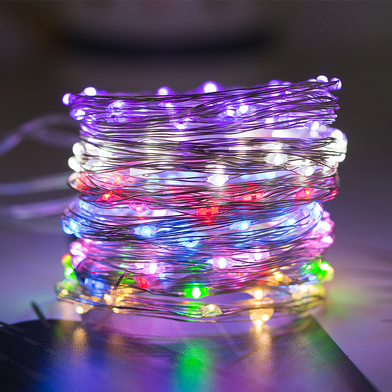 ROPIO 2M/5M LED Copper String Lights AA Battery Operated LED String Fairy Lights Christmas Wedding Party DecorationROPIO 2M/5M LED Copper String Lights AA Battery Operated LED String Fairy Lights Christmas Wedding Party Decoration