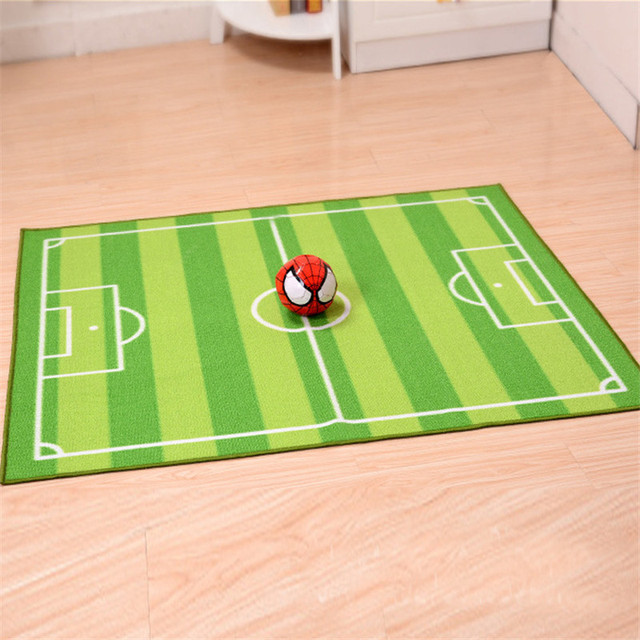 100 130cm Green Area Rug Football Carpet Jogging Training For Children Rugs Kids Bedroom