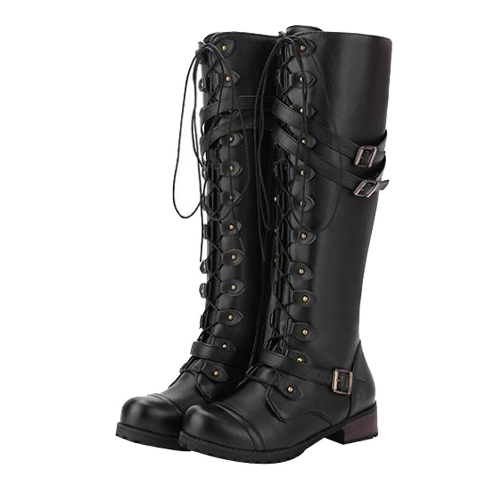 SAGACE 2019 Women Round Toe Steampunk Gothic Vintage Style Retro Punk Buckle Military Combat Boots zapatos de mujer hot sale #35-in Knee-High Boots from Shoes on Aliexpress.com | Alibaba Group