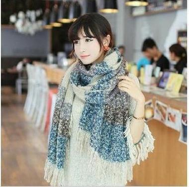 ộ ộ ༽Laine foulards 200 cm très épais d hiver écharpe femelle ... 01090dd9d1f