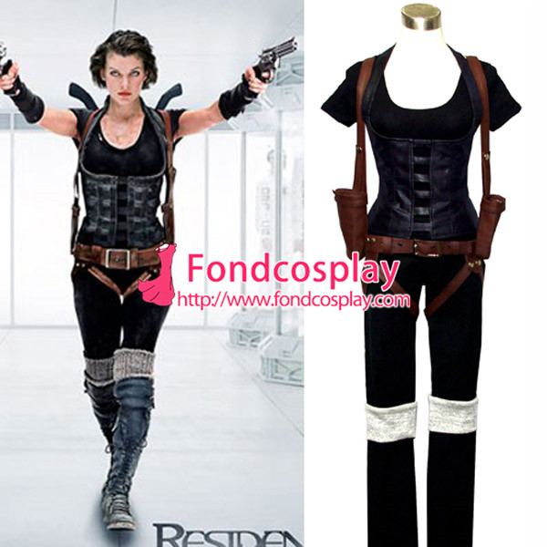 Resident Evil Afterlife Alice Suit Movie Costume Cosplay Tailor made[G541]