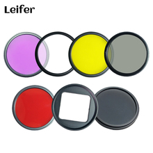 7 in 1 52mm Filter Kits for Gopro Hero 3+/4 HERO4 Camera Gopro Filter UV CPL FLD ND4 Yellow Red Lens Ring Adapter Clean Cloth