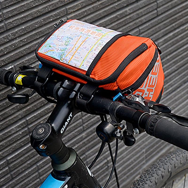 Us 32 68 Aliexpress Roswheel 3l Bicycle Handlebar Bag Mtb Road Cycling Front Bar Pannier Pouch 400d Pvc Map Basket Bike Bolsa