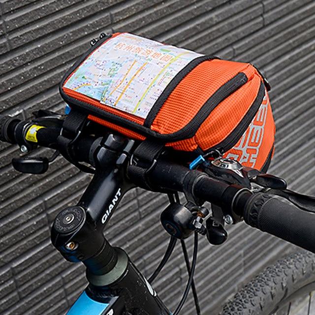 Roswheel 3l Bicycle Handlebar Bag Mtb Road Cycling Front Bar Pannier Pouch 400d Pvc Map