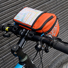 ROSWHEEL 3L Bicycle Handlebar Bag MTB Road Cycling Front bar Pannier Pouch 400D PVC Map Bags Basket Bike Accessories 111271 roswheel hot new 3l bicycle bag water proof mtb bike handlebar front basket pvc pannier pouch cycling holdings accessories
