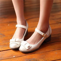 Hot New Casual Lolita Womens Sweet Bowknot Low Heels Pumps Mary Janes Ankle Strap Shoes US4.5-9