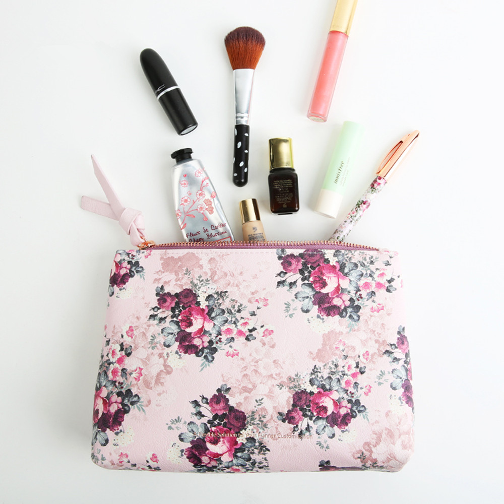 2018 malva rosa pencilcase lápis saco cosmético