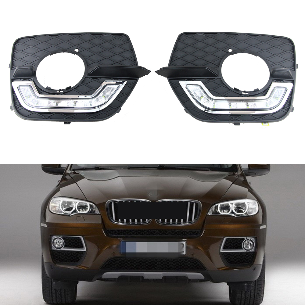 100% Brand new for BMW X6 E71 2008-2013 Daytime running lights, cheap price X6 E71 LED DRL Waterproof fog lights