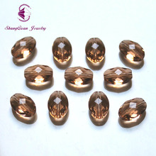 Shangquan DIY TOP quality 11X8mm 50pcs AAA Oval Austrian crystal Beads Loose Bead supply Multi color Jewelry Making