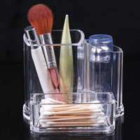2015 Wholesale New Clear Makeup Cosmetic Storage Case Organizer Lipstick Acrylic Brush Display Holder Stand Classic