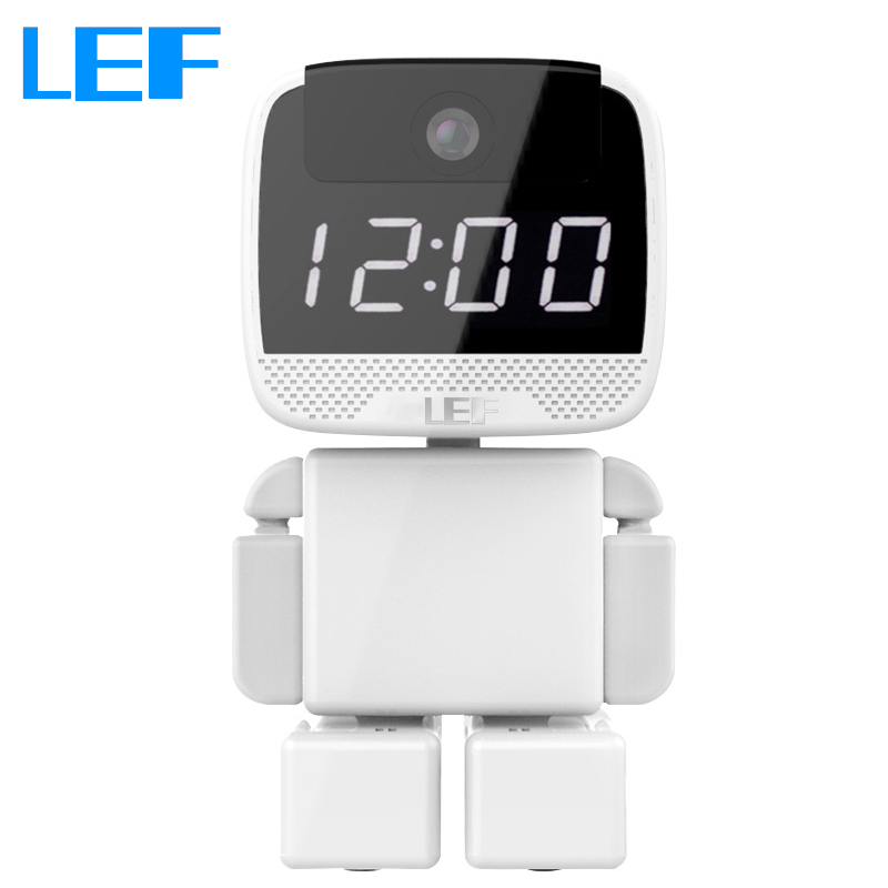 Robot Camera Wi-Fi 960P IP Camera with Clock Function for Baby Video Monitoring Home Security Day & Night with Two Way Audio