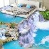 Waterfall Landscape Mural 3D PVC Flooring Roll Self Adhesive Wallpaper 3 D Wall Paper Papier Wall