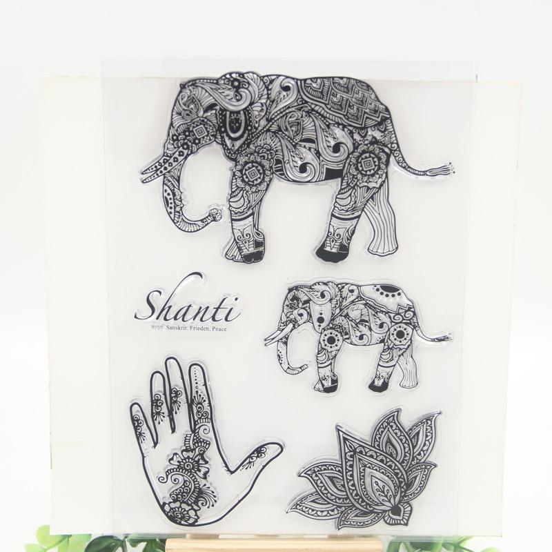 1 sheet DIY Elephant Design Transparent Clear Rubber Stamp Seal Paper Craft Scrapbooking Decoration