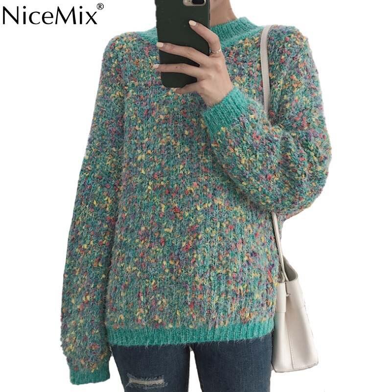 De Sudaderas Nicemix Beige verde Pullovers Streetwear 2019 Casual Otoño  Moda Coreano Hiver Las Mujeres Femme Tirar Primavera Hombros Suéteres  RxFp4xdq 1c72b553cce3