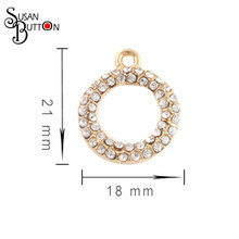 20pcs/lotHandmade floating Charms Gold/Silver Alloy Crystal Pendant fit for necklaces bracelets DIY Fashion Jewelry Accessories