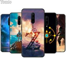 Black Case for Oneplus 7 7 Pro 6 6T 5T Silicone Phone Case for Oneplus 7 7Pro Soft TPU Cover Shell The Legend of Zelda