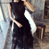 2018 New Women Dress Summer Elegant Vestidos Bodycon Sexy Formal Party Maxi Black Lace Backless Runway