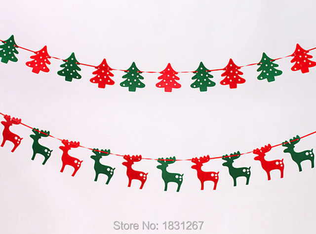 2015 navidad 19 m banner decoracin del rbol de navidad guirnalda alces banners - Guirnalda De Navidad