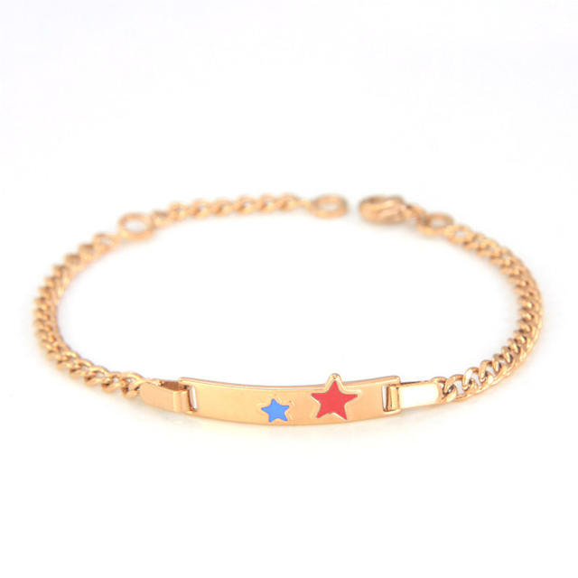 Girls Boys Baby Bracelets Gold Kids Jewelry Bijoux Bebe Pulseira