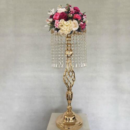 Aliexpress Buy New Elegant Golden Wedding Table Centerpiece