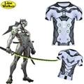\ Línea Walker \ moda T-shirt OW cosplay Srever Genji Cuida de Los Hombres Tee ropa ajustada Camiseta camisa de compresión