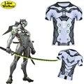 \ Line Walker \ moda T-shirt OW cosplay Srever Genji Assistir Ao Longo Dos Homens T roupas camisa apertada T compressão Camisa