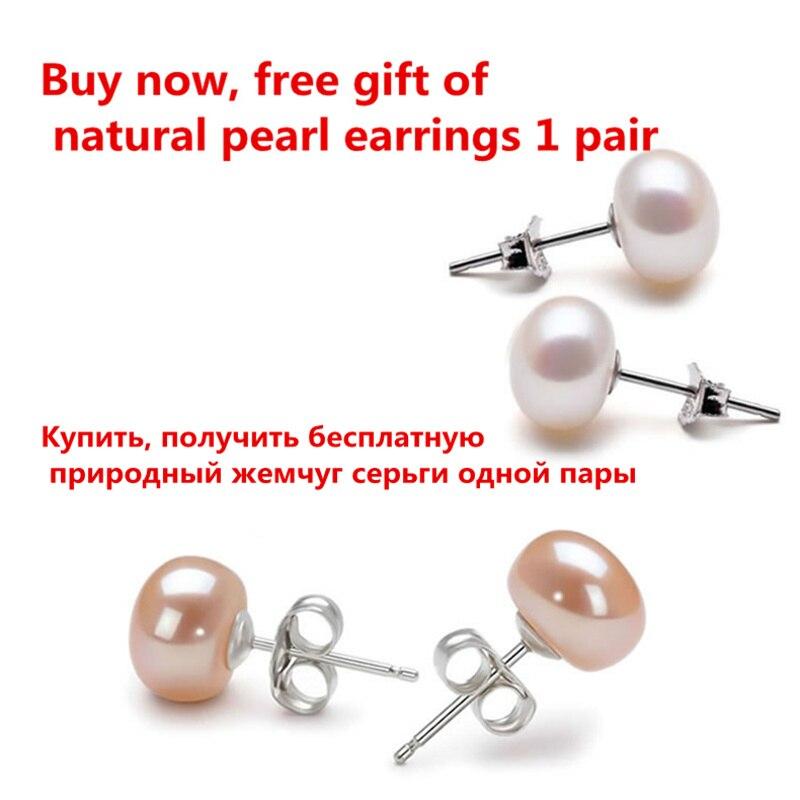 Echte 925 Sterling Silber Halskette Perfekte natürliche Perle Choker - Modeschmuck - Foto 6
