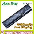 Apexway 4400 mah 11.1 v bateria 484170-002 484171-001 484172-001 485041-001 para hp pavilion dv4 dv5 dv6
