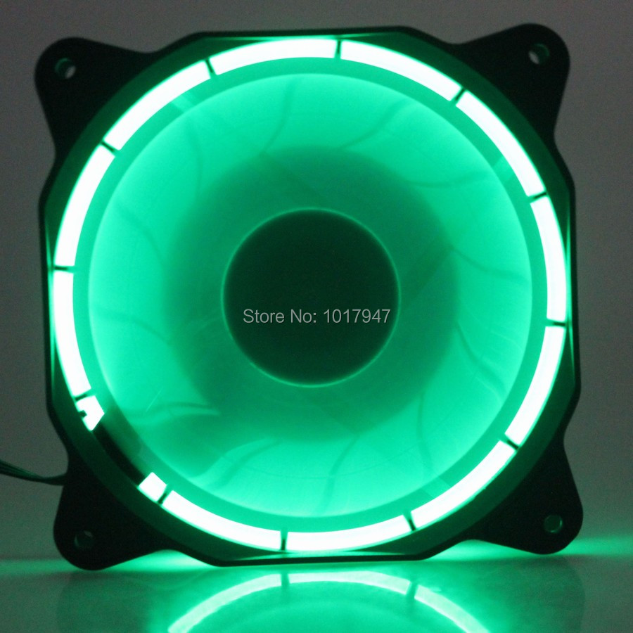 5pieces lot 3Pin 4Pin 12V Cooling CPU Heatsink Fans 15 LED Light Green For Computer PC Case 120 x 25mm