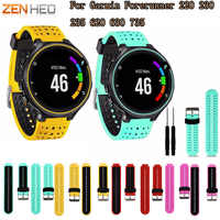 8 cores silicone substituição pulseira de relógio para garmin forerunner 230/235/220/620/630/735 relógio esporte ao ar livre pulseira