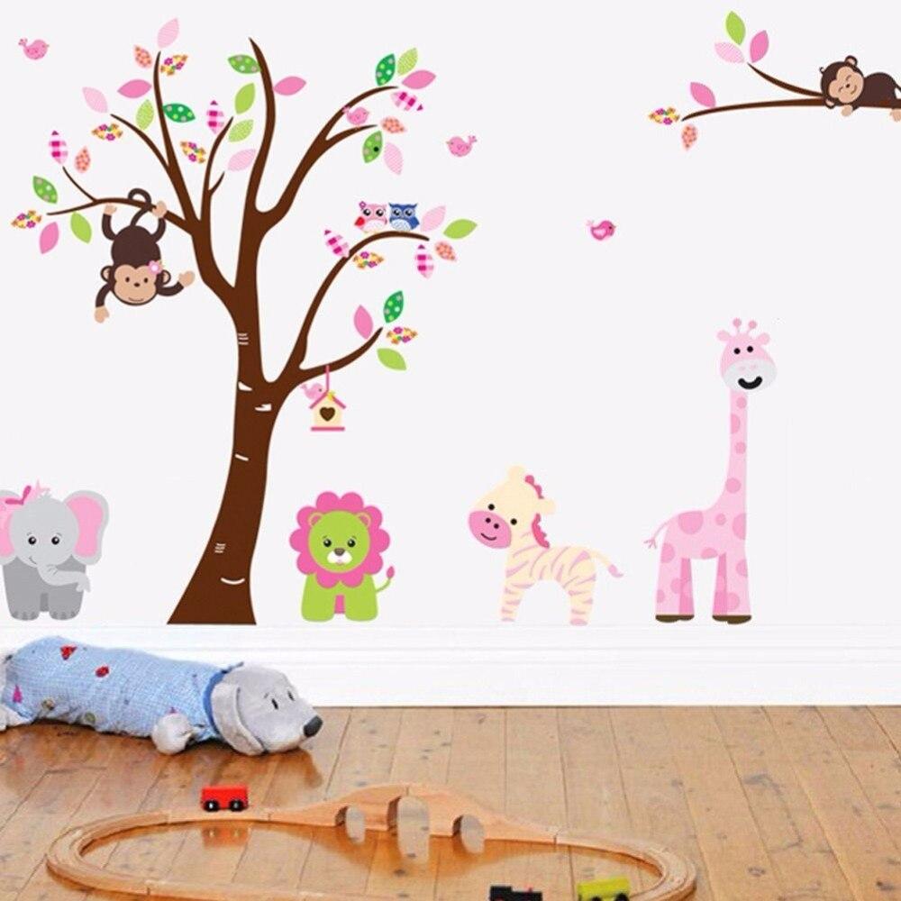 Toko Online Art Kebun Binatang Hewan Pohon Kamar Anak Anak Pvc