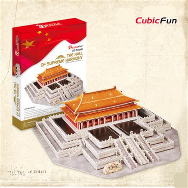 Cubicfun 3D Puzzle MC127h The Palace Museum Model China Flavor DIY Puzzle 3D Model Christmas Gift Educational Toys For Children