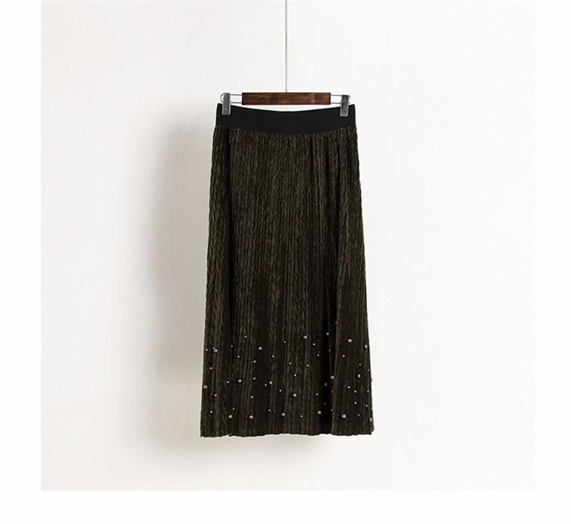 women velvet skirt 04