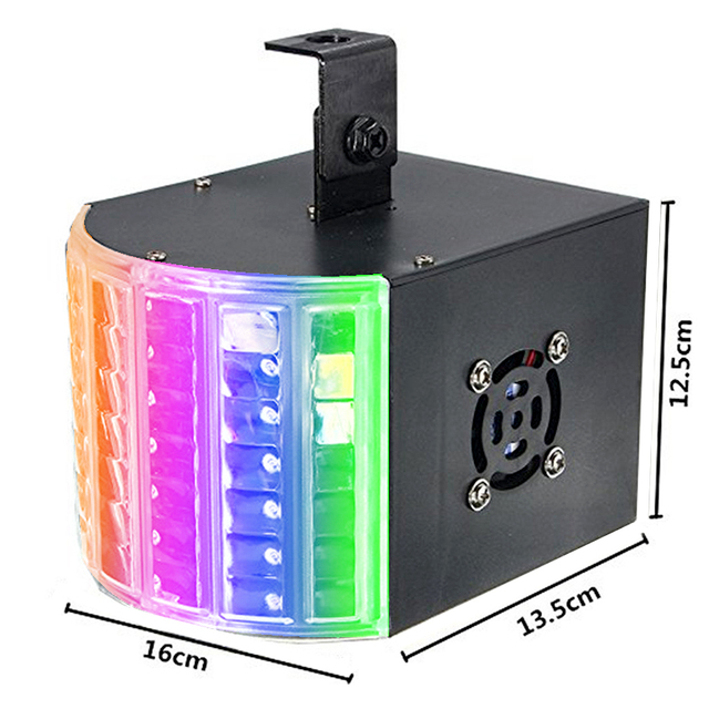 18W Led Laser Disco Light DMX 512 DJ RGB Party Lamp Sound Actived Disco Lamp Moving Head Projector Strobe Christmas Stage Light