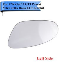 Left Side Heated Exterior Door Mirror Glass For VW Golf 5 GTI Passat MK5 R32 Rabbit Seat Skoda 2006 2007 2008 2009 #9411-L