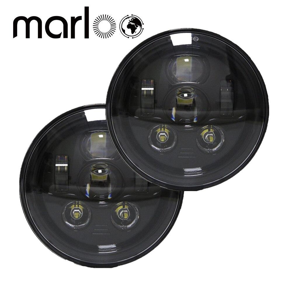 Marloo 7 дюймов 90 Вт круглый светодиодный Фары для автомобиля высокая/ближнего света для Jeep Wrangler CJ JK TJ 97 -2016 мотоциклетные внедорожники-пара