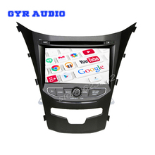 quad core android 5.1 Car DVD GPS for SsangYong New Actyon Korando 2014 with Capacitive screen 1.6G CPU 1G RAM Stereo NAVI
