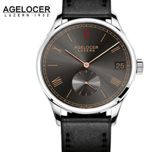 Original AGELCOER Men Brand Watch Fashion Luxury Mechanical self winding Sapphire Watch Genuine Leather Dive 50m