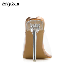 11CM PVC Clear Crystal Concise Sandals